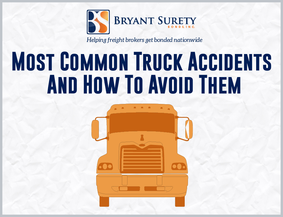 Infographic on the most common reasons for accidents involving trucks and useful tips for prevention