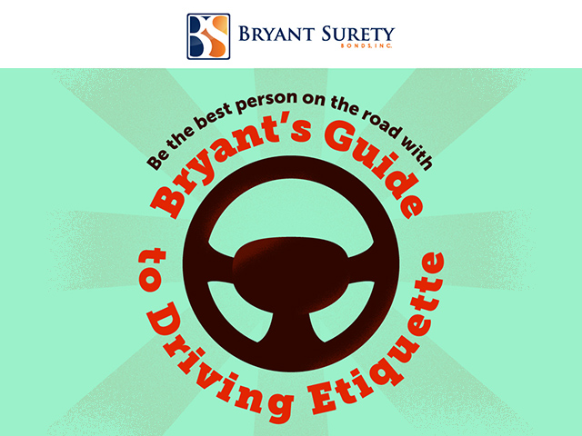 Infographic about the driving etiquette on and off the road.