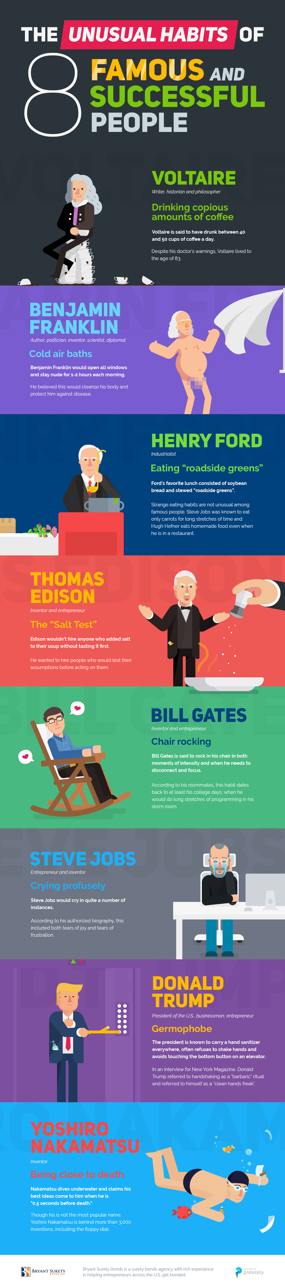 The Unusual Habits of 8 Famous and Successful People