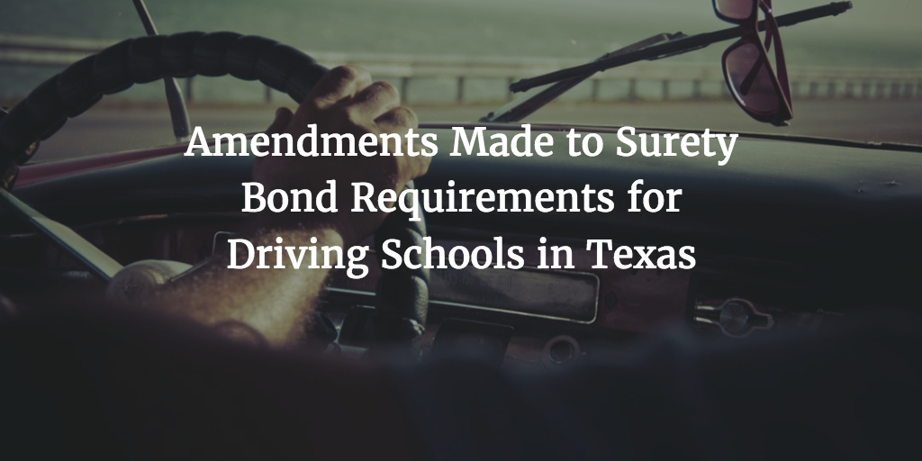 Texas driver education school bond