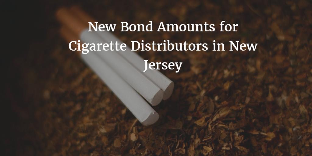 New Jersey Cigarette Tax Bond Amounts to Change
