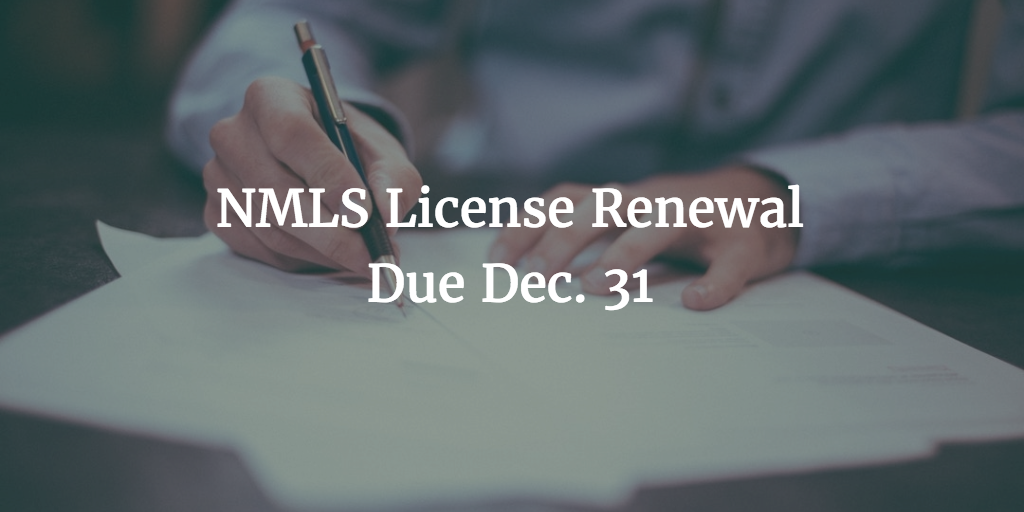 nmls license renewal
