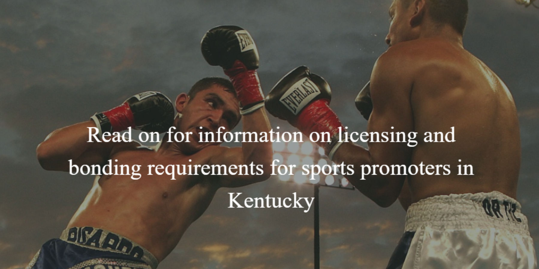 kentucky combative sports promoters bonding