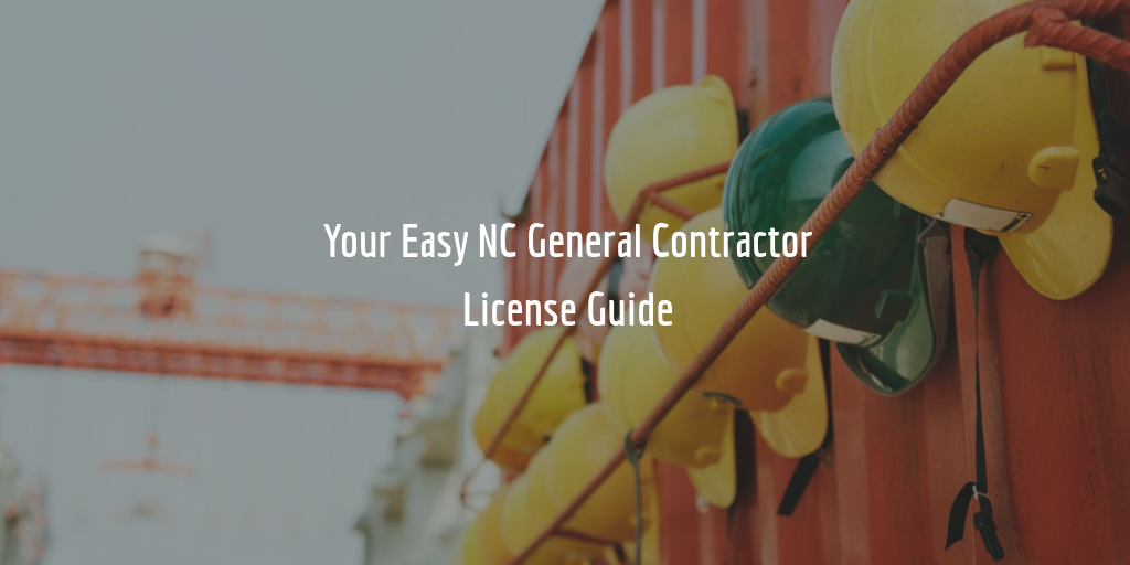 NC contractors license guide