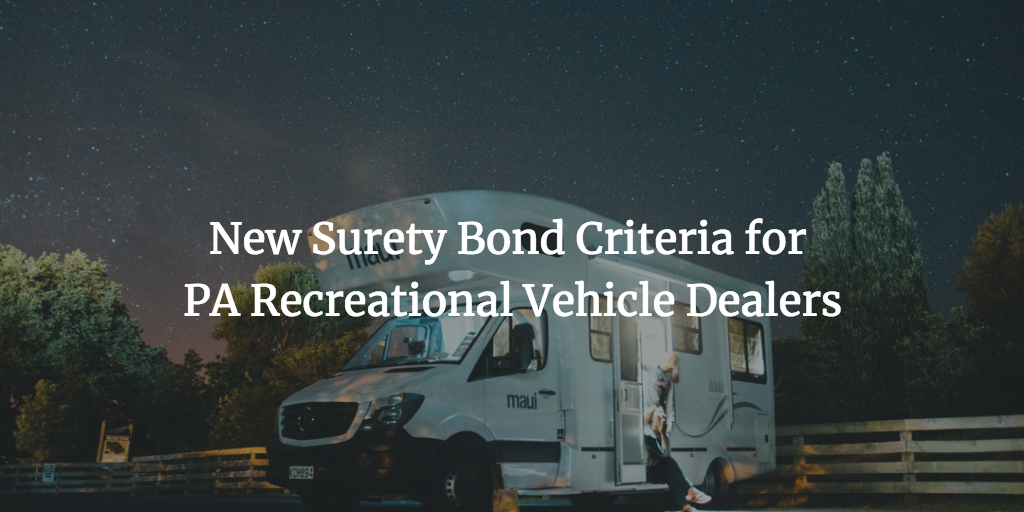 pa rv dealer surety bond