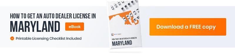 Dealer license guide Maryland