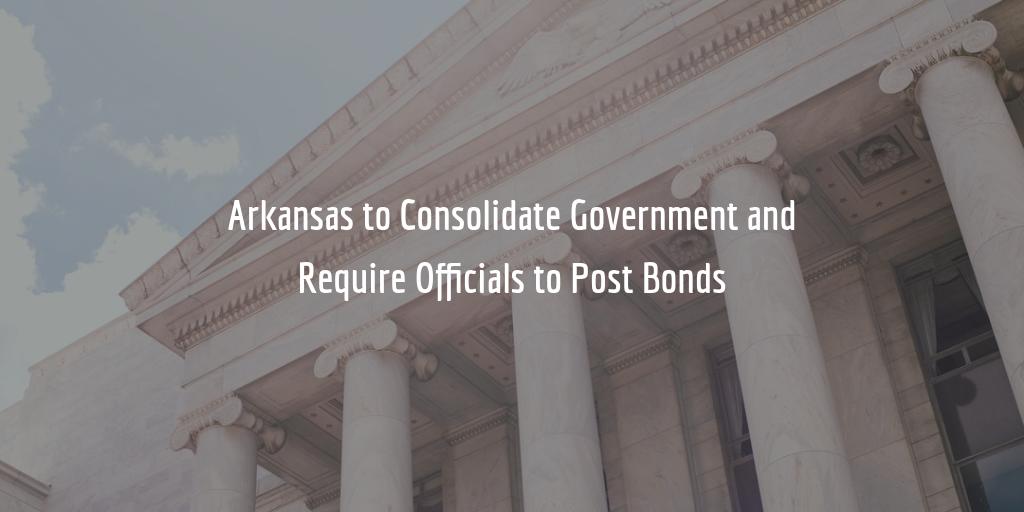 Arkansas public official bond requirement