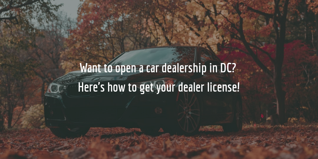 DC auto dealer license guide