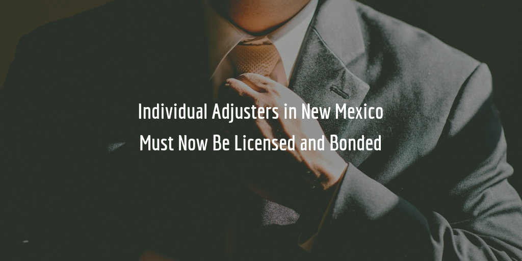 new mexico individual adjuster license