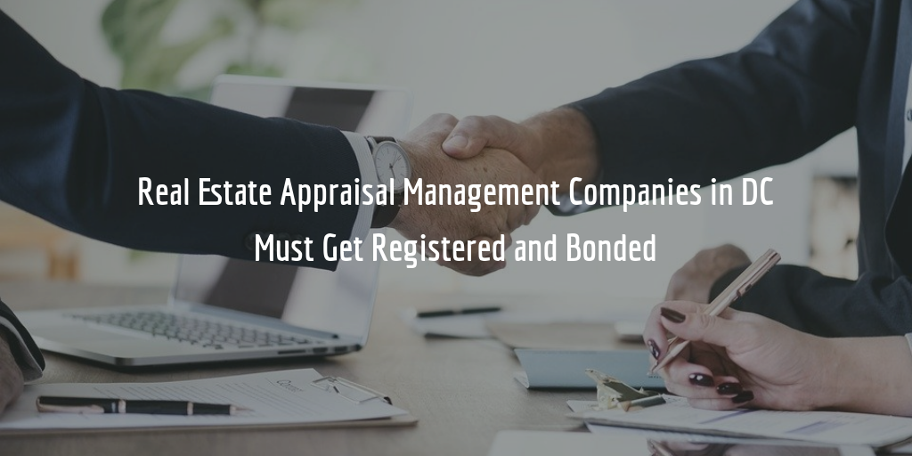 DC appraisal management company bond and registration guide