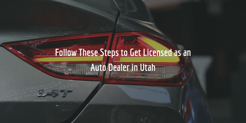 Utah dealer license guide