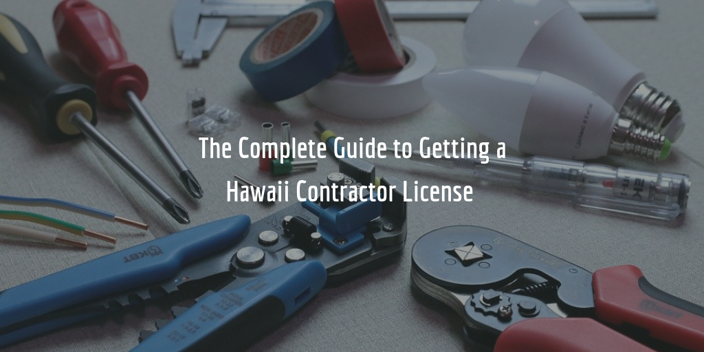 Hawaii contractor license guide