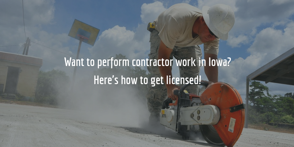 Iowa contractor license guide