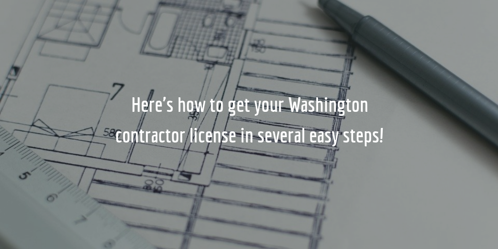 Washington contractor license guide