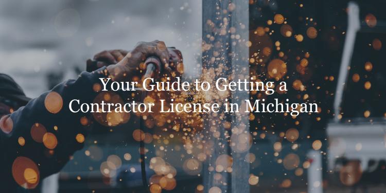 Michigan contractor license guide