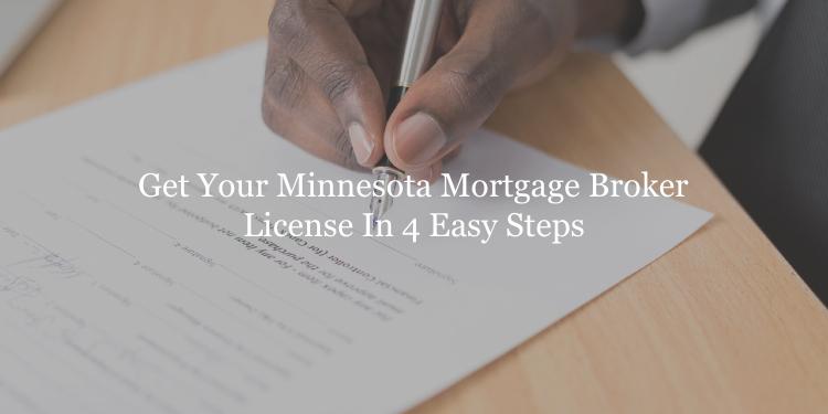 Minnesota mortgage broker license guide