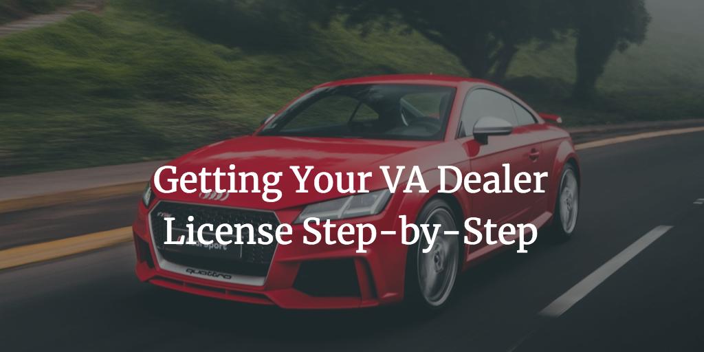 how to get a virginia dealer license